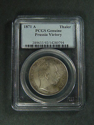 1871-A Thaler Pcgs Genuine Prussia Victory