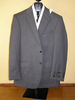 $670 new Jos A Bank Signature Solid Cambridge Grey 2btn jacket 41 L Tailored fit
