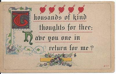 Vintage Postcard / Greeting Card - Uncirculated.  circa 1910