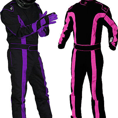 K1 - TR2 SFI-1 Auto Racing Suit - Nomex Style SFI - Girls & Womens Pink & Purple