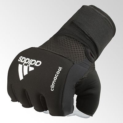 Adidas Quick Wrap Boxing Gel Hand Wraps Climacool Padded Inner Glove Black