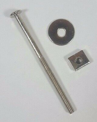 "NEW Antique 2-3/4"" Replacement Furniture Glass Knob Handle Bolts Steel w/ Nickel"