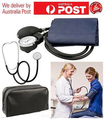 Aneroid Sphygmomanometer Arm Blood pressure Monitor Stethoscope Cuff Dial ARTG