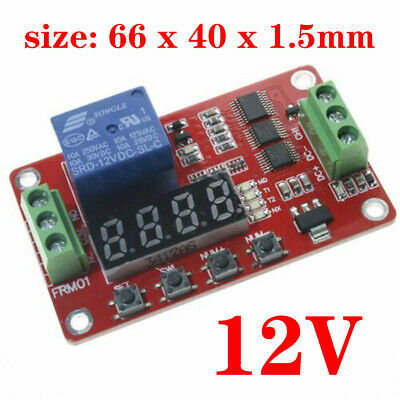 12V Multifunction Self-lock Relay Cycle Timer Module PLC Home Automation Delay