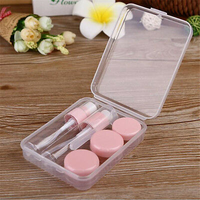 1 Set Travel Plastic Empty Bottles Transparent Face Cream Makeup Container