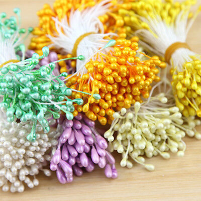 150pcs Artificial Colorful Pearl Head Stamens Floral Supplies Sugarcraft Flower