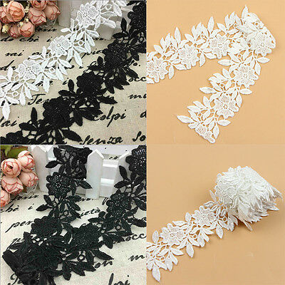 1 Yard DIY Lace Trim Ribbon For Wedding Bridal Dress Sewing Embroidered Craft