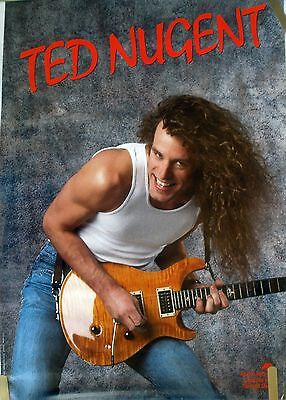 Ted Nugent If You Can't Lick Em 1988 Vintage Music Record Store Promo Poster
