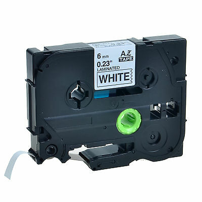 """1PK TZ211 TZe211 Black On White Label Tape Brother P-Touch PT-1000 6mm 1/4"""""""