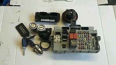 Fiat punto 1.2 8v mk2 complete ecu lock kit, transponder, barrels and key