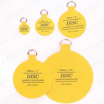 10 PACK SELF ADHESIVE DISC INVISIBLE PLATE HANGER 30/50/75/100/  sc 1 st  PicClick UK & INVISIBLE SELF ADHESIVE 30/50/75/100/140mm DISC PLATE/GLASS/CHINA ...