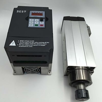 2.2KW Air Cooled ER25 Spindle Motor VFD Inverter Variable Frequency Driver CNC