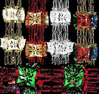 *2.7m Foil Luxury Garland Large Foil Christmas Xmas Ceiling Hanging Decoration*