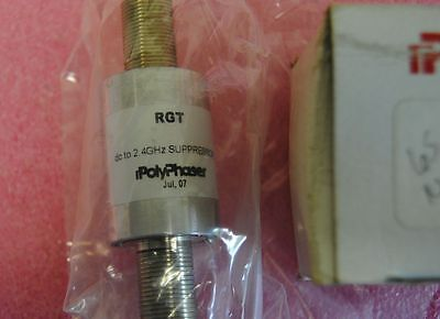 NEW - PolyPhaser RGT  / inline DC to 2.4GHz Suppressor