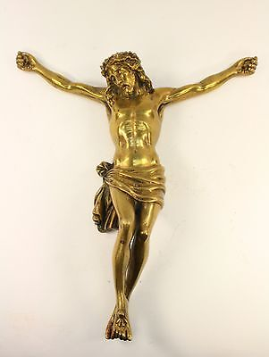 Cristo Crucificado de bronce. Religión. Christ Crucified of bronze. Religion.