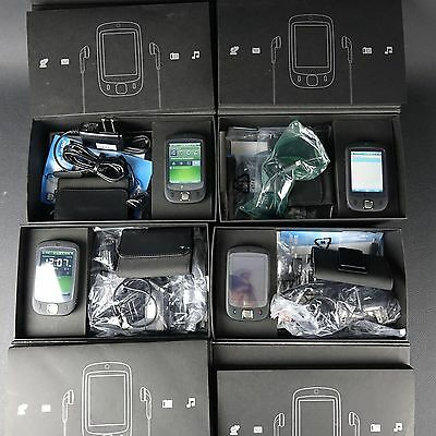 Lot of 4 - HTC Touch MP6900 {US Cellular} - BLACK w/ Box & Accessories