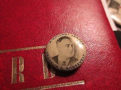 Political Pins 1940 A Gallent Leader Franklin Roosevelt Pin