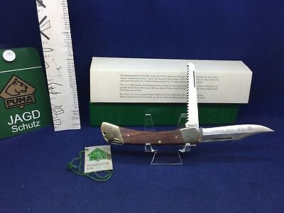 1987 Vintage Puma Gamewarden Knife & Jacaranda Handles With Tag Mint In Box #10
