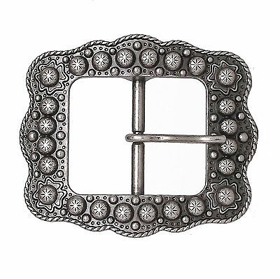 "Sunburst Buckle Antique Nickel 1"" 2677-21"