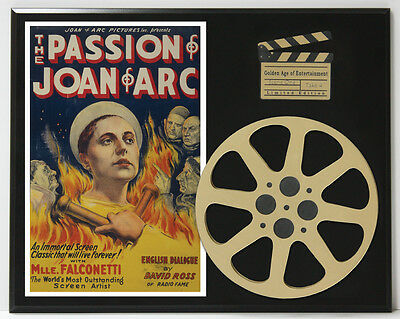 The Passion Of Joan Of Arc Falconetti & Silvain Ltd Edition Movie Reel Display