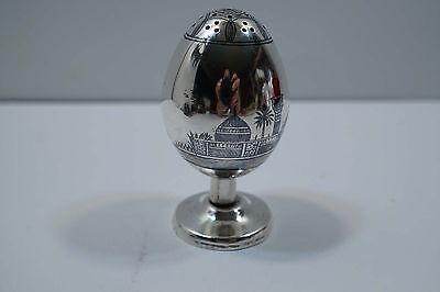 Very Nice Iraqi Signed Scenic Silver Salt Shaker  A468