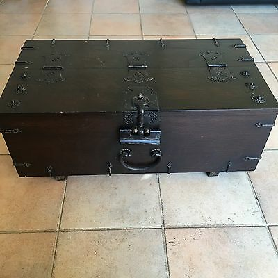 Oriental Antique Wooden Solid Timber Trunk Chest