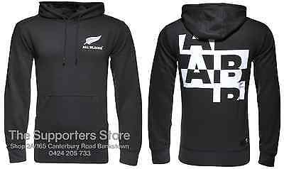 New Zealand All Blacks 2016 Essentials Hooded Rugby Jumper Sizes S-3XL!