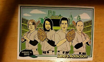 Jane's Addiction 2012 Band Tour Mann Music Center Philadelphia Trading Card