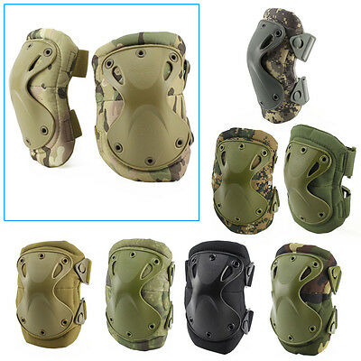 Airsoft Tactical Adjustable Elbow & Knee Protective Pads Knee Pad Skate Combat