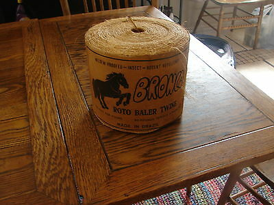 Vtg complete Large Spool BRONCO ROTO BALER TWINE BRAZIL / Cover