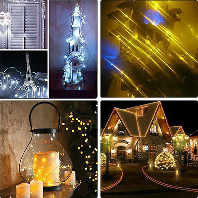 2-10M Battery Powered/Electric Copper Wire String Fairy Xmas Party Lights White