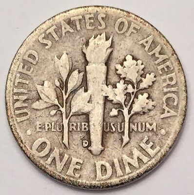 1946-D U.S.A One Dime, Roosevelt coin