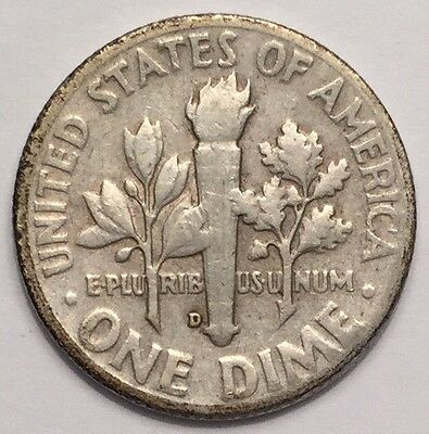 1949-D U.S.A One Dime, Roosevelt coin