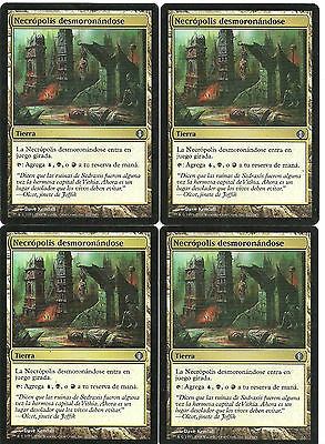 mtg Magic 4x Crumbling Necropolis ( Necropolis desmoronandose ) Spa GOOD