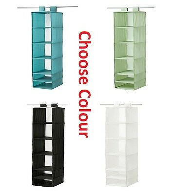 IKEA SKUBB Hanging Storage Closet Shoes Clothes Organiser Rack w/ 6 Compartments