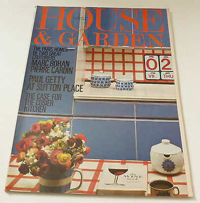 House and Garden  VINTAGE RETRO MAGAZINE July / August 1970