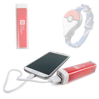 Red 2600mAh Power Bank w/ Micro USB Cable for Nintendo Pokemon Go Plus