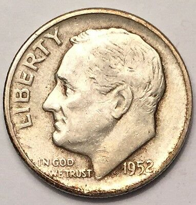1952-S U.S.A One Dime, Roosevelt coin