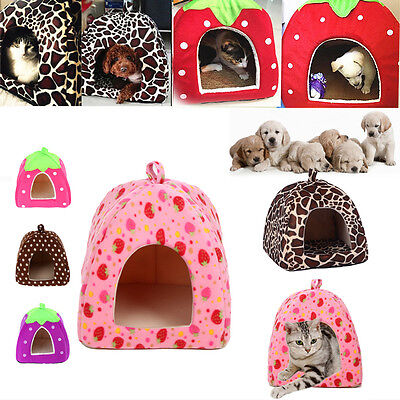 Pet Puppy House Nest Dog Cat Soft Cute Comfy Bed Cushion Basket Kennel Cage HOT