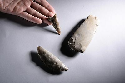Prehistoric Neolithic Danish Flint Tool Collection - 1900 BC