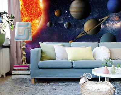 3D Solar System Wall Paper Wall Print Decal Wall Deco Indoor wall Mural Home