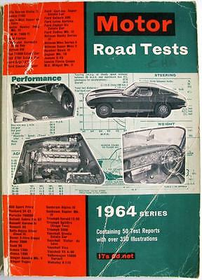 MOTOR Road Tests 1964 - SIMCA, SINGER, TRIUMPH, SUNBEAM, VAUXHALL, etc