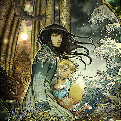 MONSTRESS Signed POSTER Art PRINT Marjorie Liu SDCC 2016 Sana Takeda #7 Cover