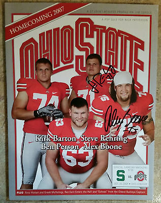 Ohio State 2007 football program autographed by Alex Boone & Steve Rehring