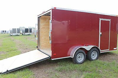 6x12 6 x 12 Enclosed Trailer Cargo Tandem 7 V-Nose 14 Lawn 10 Motorcycle 2018