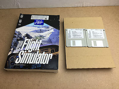 Microsoft Flight Simulator 5.1 Retail Box 1995 On 3.5 Inch Disk For Ms-Dos