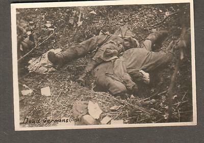 WWI photo Dead Germans (Oise) German soldiers in France