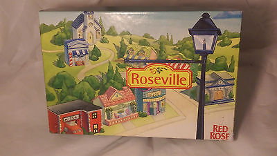 Red Rose Tea Roseville 1997 Set of 8 Collector's Figural Teapots in Box