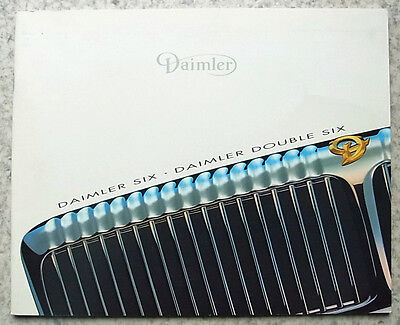 DAIMLER SIX & DOUBLE SIX Car Sales Brochure 1996  #JLD/10/01/02/96