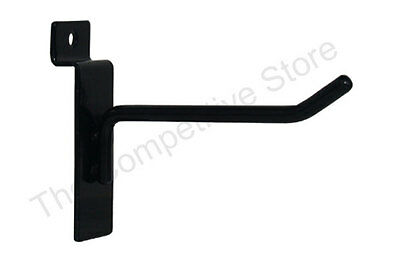 "4"" Slatwall Hooks For Slat Panel Display - Black White or Chrome - FREE SHIPPING"